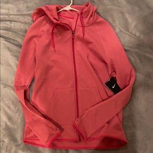 NWT Pink women's Nike zip-up hoodie jacket size M